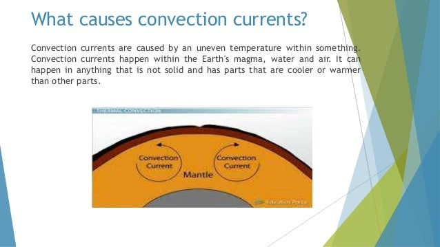 What are convection currents and what causes them?