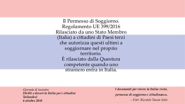 I documenti per vivere in Italia: visto, permesso di soggiorno e citt…