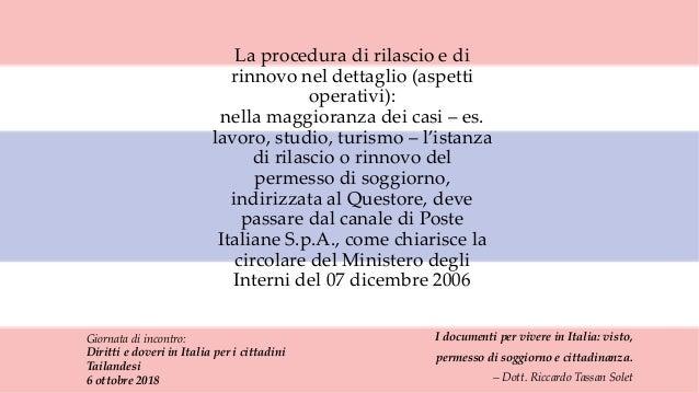 I documenti per vivere in Italia: visto, permesso di ...