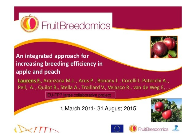 An integrated approach forincreasing breeding efficiency inapple and peachLaurens F., Aranzana M.J. , Arus P. , Bonany J. ...