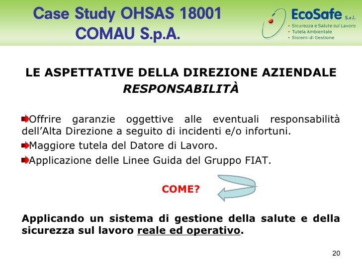 fonderia di torino spa case study The case presents information sufficient to build cash flow forecasts of   discounted cash flow (dcf) analysis reveals that this investment project is   fonderia di torino is a fictional company representing the issues that faced act ual firms.
