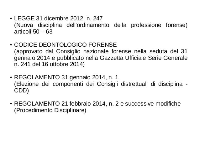 Avvocati: le sanzioni e il procedimento disciplinare Slide 2