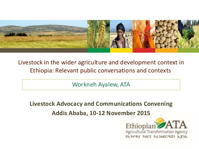 Livestock in the wider agriculture and development context in Ethiopia: Relevant public conversations and contexts Workneh...