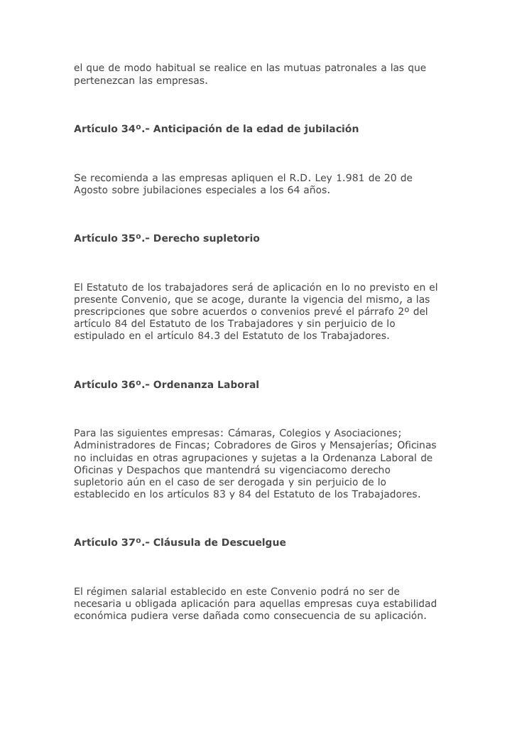 Ejercicio 4 cotizacion for Convenio colectivo oficinas y despachos pontevedra