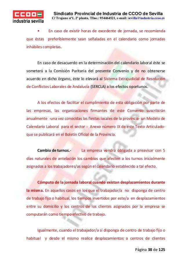 Calendario Laboral 2020 Sevilla.Convenio Colectivo Siderometalurcia 2018 2020