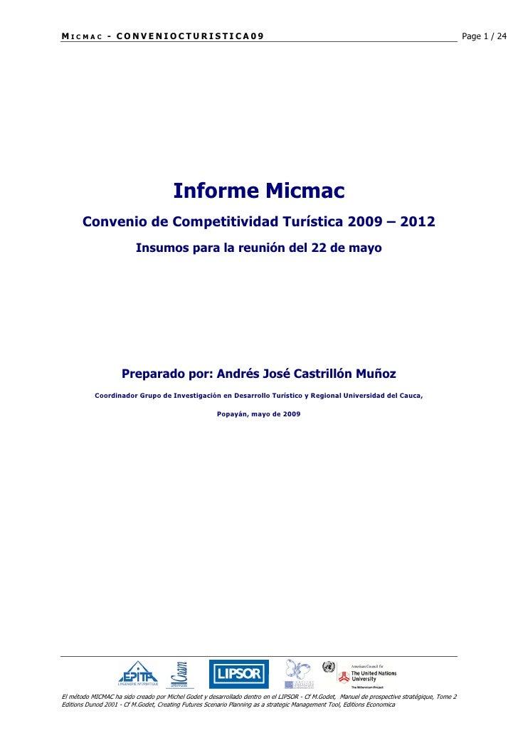 MICMAC - CONVENIOCTURISTICA09                                                                                             ...