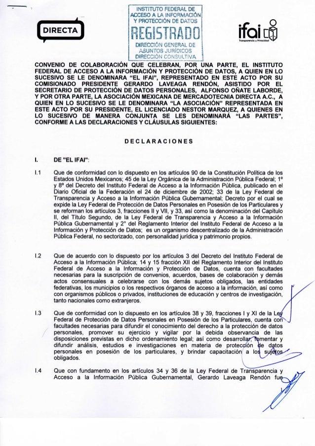 TronsporenciQ y Prívocictod INSTITUTO FEDERAL DE ACCESO A LA INFORMACIÓN Y PROTECCIÓN DE DATOS REGISTRADO DIRECCIÓN GENERA...