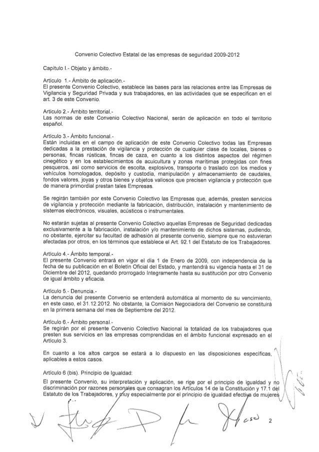 Convenio seguridad privada 2009 2012