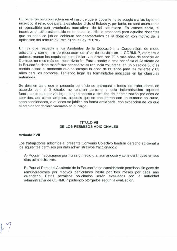 Convenio sindicato educación trabajadores de la cormup 2
