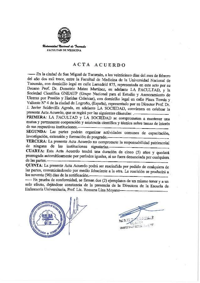 FACULTAD DE MEDICINA  ACTA ACUERDO  -—---- En 1a ciudad de San Miguel de Tucumán,  a los veinticinco días del mes de febre...