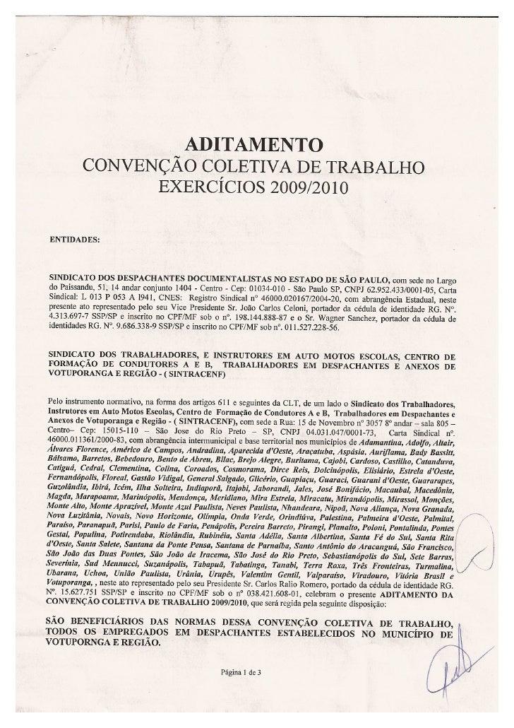 Convenção Coletiva Despachantes   2010