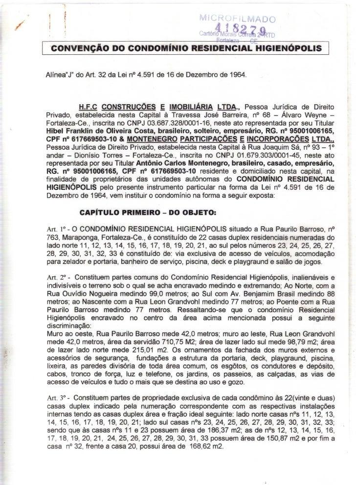 Convenção do Condomínio Higienópolis