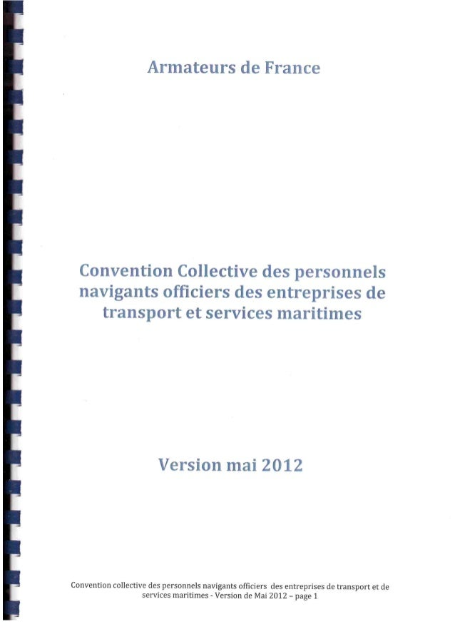 Nouvelle convention collective officiers de la marine marchande non étendue
