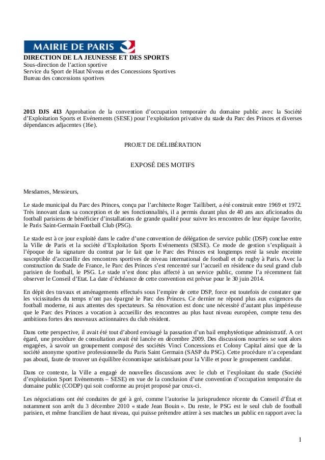 DIRECTION DE LA JEUNESSE ET DES SPORTS Sous-direction de l'action sportive Service du Sport de Haut Niveau et des Concessi...