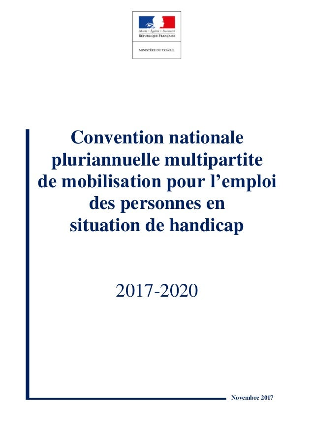 Convention nationale pluriannuelle multipartite de mobilisation pour l'emploi des personnes en situation de handicap 2017-...