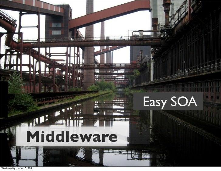 Easy SOA                  MiddlewareWednesday, June 15, 2011
