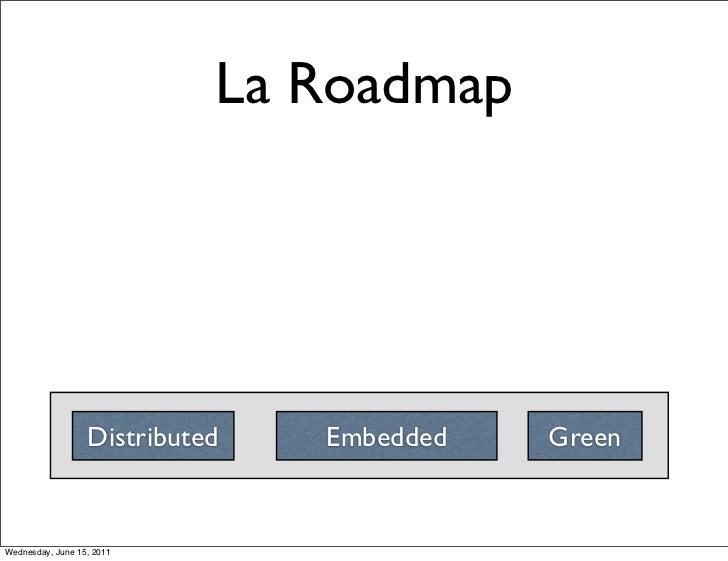 La Roadmap                  Distributed   Embedded   GreenWednesday, June 15, 2011