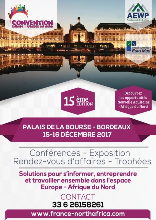 """15ème Convention """"Europe / Afrique du nord"""" : 15&16 décembre 2017 à Bordeaux"""
