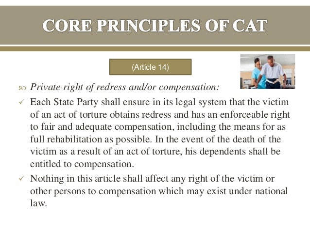 Compensate the victim or punish the
