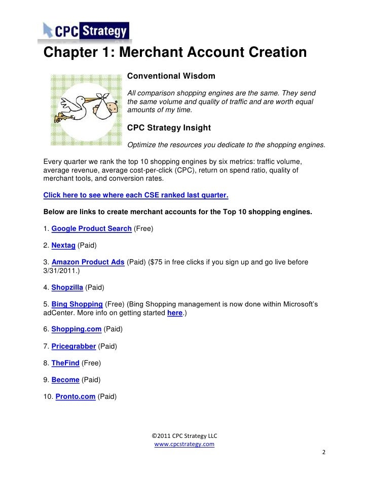 Conventional Wisdom and Comparison Shopping Engines
