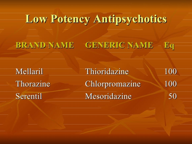 Chlorpromazine Brand Name