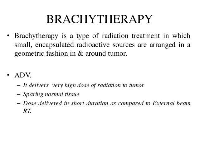Conventional Brachytherapy in carcinoma cervix Slide 2
