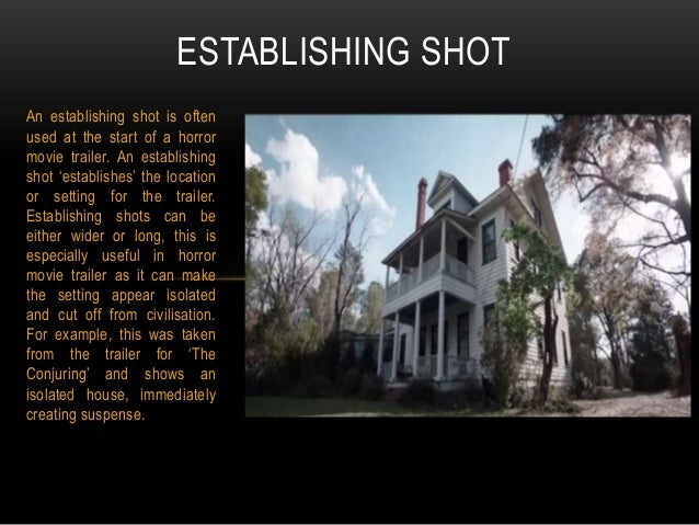 Conventional Camera Shots In Horror Movie Trailers