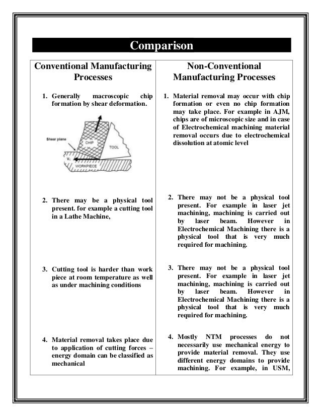 difference between traditional and non traditional machining process pdf