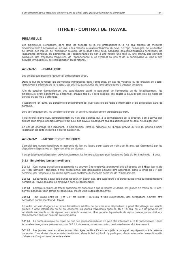 Ccn Commerce De Detail Non Alimentaire