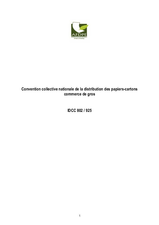Convention Collective Distribution Papier Carton Commerce De Gros