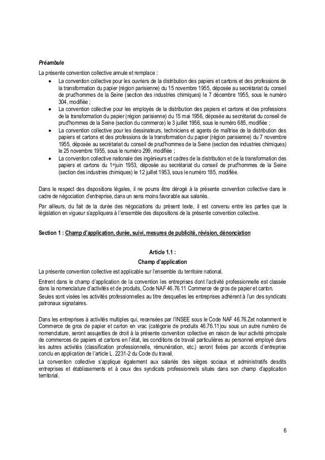 Convention Collective Distribution Papier Carton Commerce De Gros