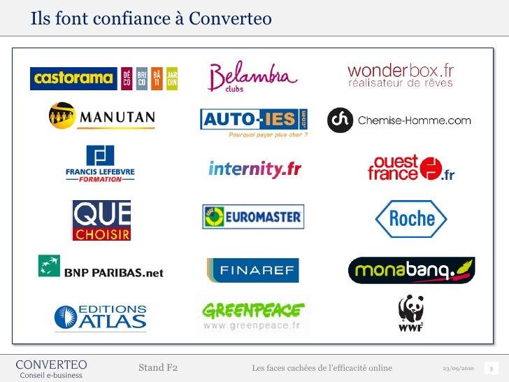 Les faces cachées de l'efficacité online - Convention e commerce 2010 -  Converteo Slide 3