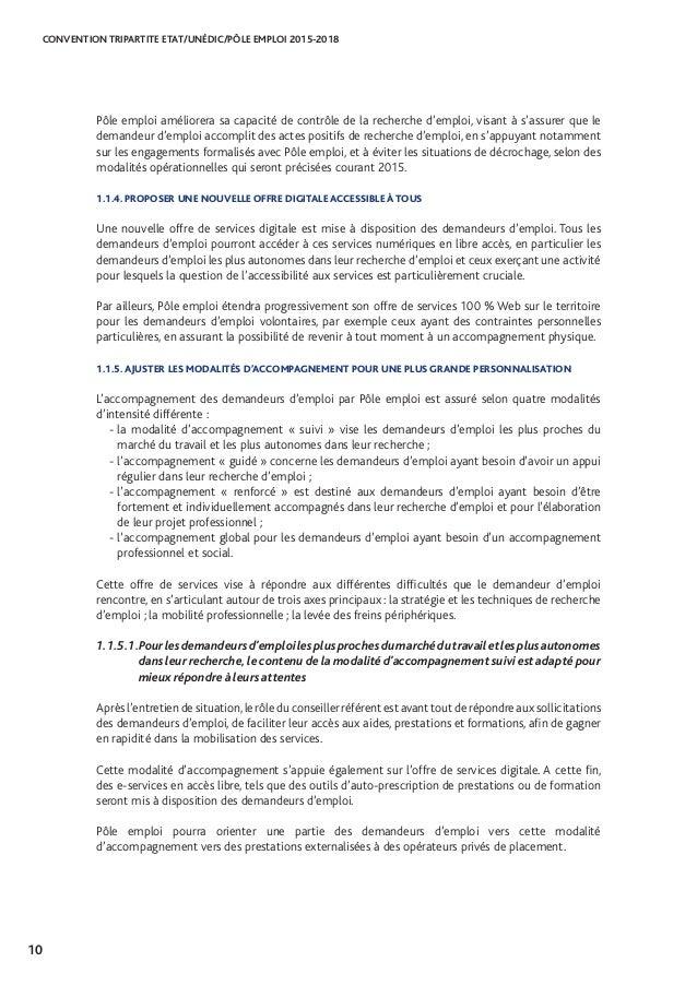 Convention Tripartite Etat Unedic Pole Emploi 2015 2018