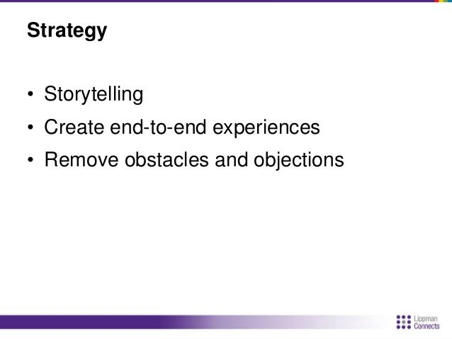 Strategy  • Encourage cooperation and collaboration  • CES rule: 3 innovations annually  • Leverage the news