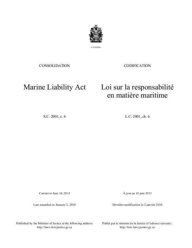 Current to June 10, 2013 Last amended on January 2, 2010 À jour au 10 juin 2013 Dernière modification le 2 janvier 2010 Pu...