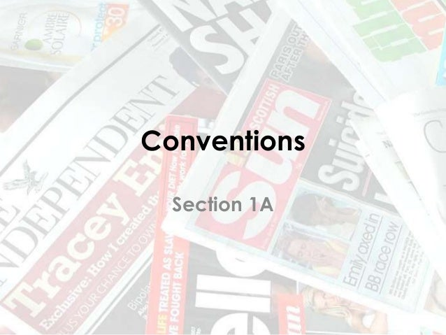 Conventions Section 1A