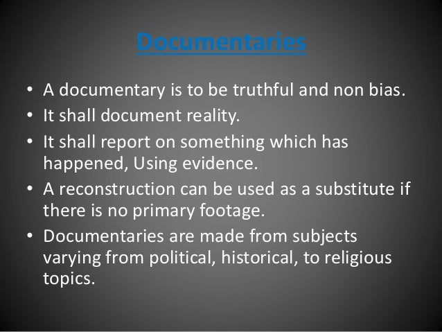 Conventions of a documentary (A2 media studies)