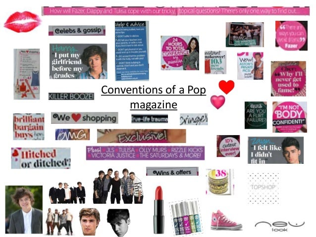 Conventions of a Pop     magazine