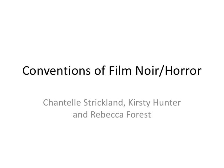 Conventions Of Film Noir
