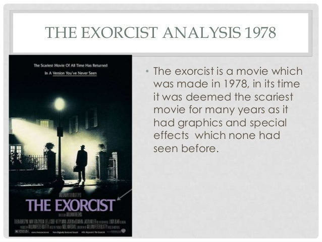 The exorcist movie analysis