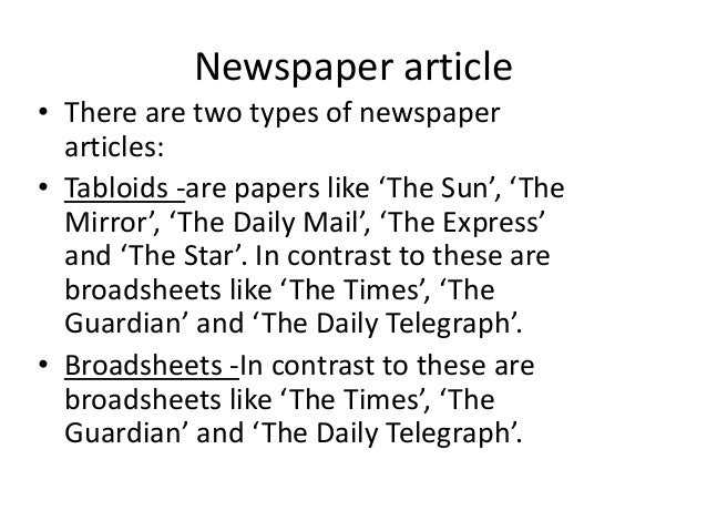 compare and contrast two newspaper articles