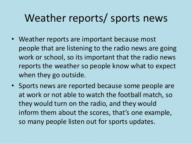 Conventions of radio news