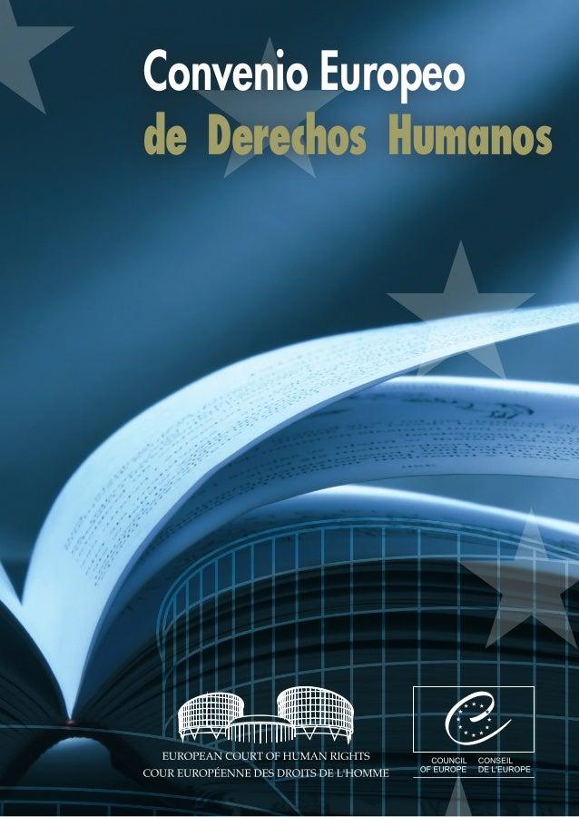 Convenio Europeode Derechos Humanos