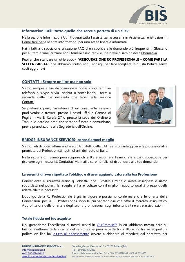 Convenzioni Assicurazione Professionale Architetti