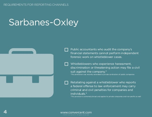 the implications of the sarbanes oxley Of auditors, corporate officers and audit committee members in financial reporting (sarbanes-oxley act, 2002) second, we analyze the potential legal.
