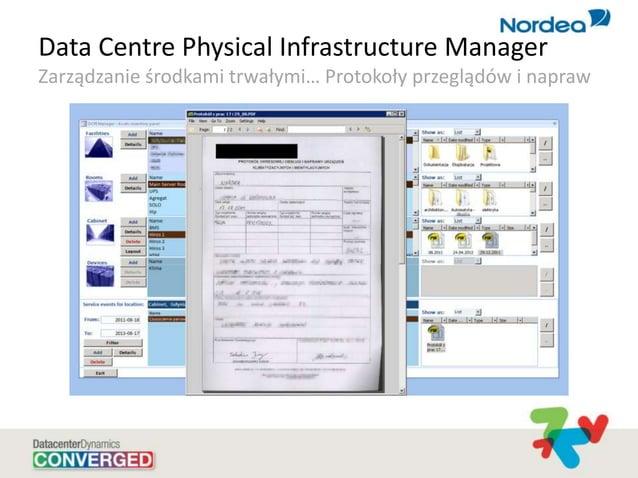 Data Centre Physical Infrastructure Manager Zarządzanie środkami trwałymi… Protokoły przeglądów i napraw