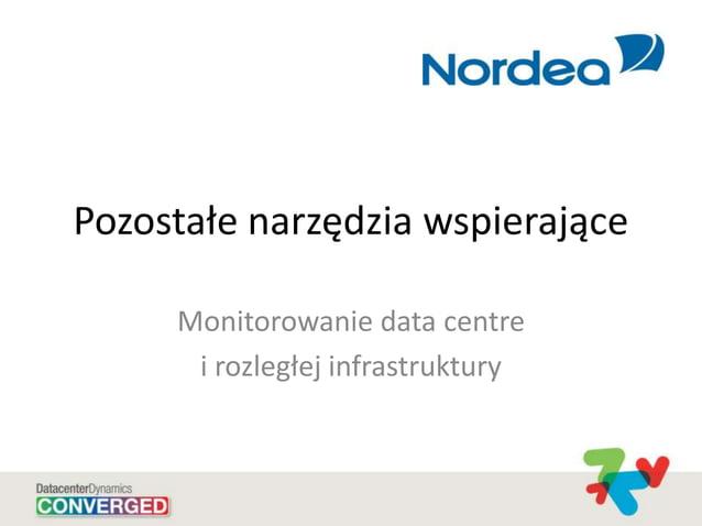 Pozostałe narzędzia wspierające Monitorowanie data centre i rozległej infrastruktury