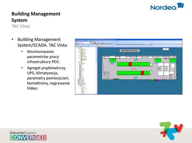 Building Management System TAC Vista • Building Management System/SCADA. TAC Vista: • Monitorowanie parametrów pracy infra...