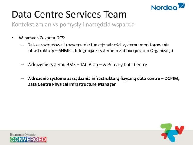 Data Centre Services Team Kontekst zmian vs pomysły i narzędzia wsparcia • W ramach Zespołu DCS: – Dalsza rozbudowa i rozs...