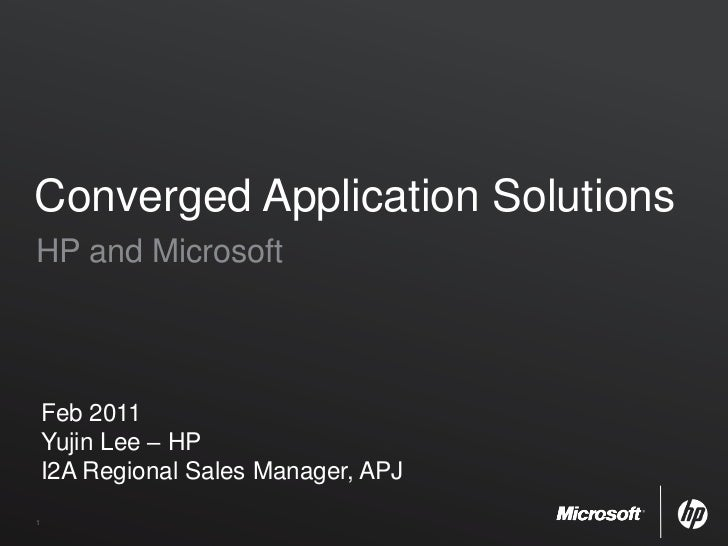 Converged application solutions yujin lee(hp)
